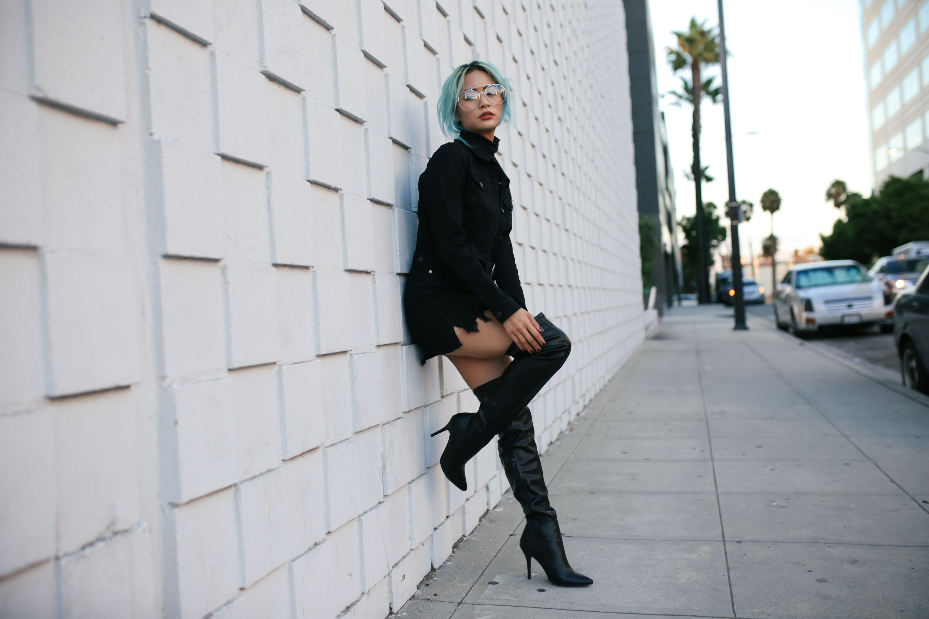 All Black Outfit – Styling Over the Knee Boots