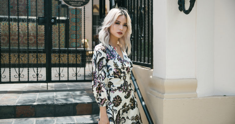 White Floral Dress by Zilea from Italy